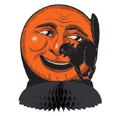 *RETRO Halloween Classic BLACK CAT & MOON CENTERPIECE Decoration *VTG Beistle
