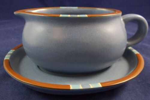 Dansk MESA BLUE SKY Gravy Boat & Underplate Portugal GREAT CONDITION ...