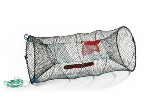 1 X CRAB SHRIMP CRAYFISH TRAP CAGE POT SEA FISHING TACKLE PRAWN LOBSTER NET 90CM
