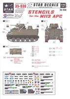 Star Decals 1/35 Stencils For The M113 Apc Armored Personnel Carrier
