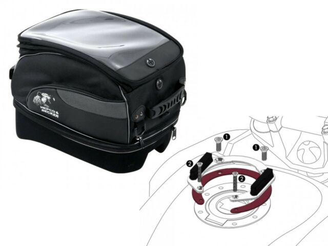 Honda NT700V Deauville YR 06 Bis 12 Tourer XL Lock It Motorcycle Tank Bag Set