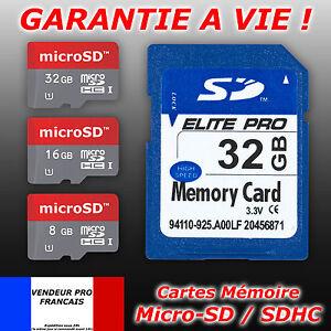 Carte-memoire-SD-microSD-micro-SDXC-SDHC-Class-6-10-ULTRA-4-8-16-32-64-Go-Gb