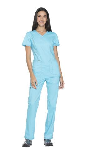Scrubs Dickies Essence Women V Neck Top DK803 TRQ Turquoise Free Shipping