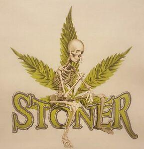 5834756d926b Details about STONER SKELETON SKULL POT WEED MARIJUANA LEAF HOODED  SWEATSHIRT #MJ-8 HOODIE