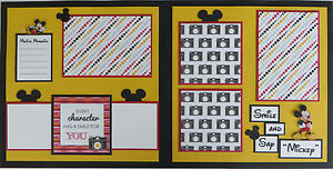 Premade Disney 12x12 Scrapbook Pages/Layout - Mickey Mouse (Smile #2)