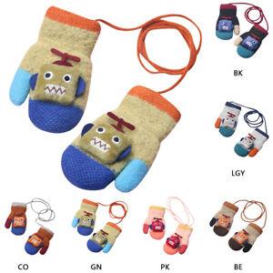 NEW Kid Girls /& Boys Robots children/'s gloves winter warm mittens gloves