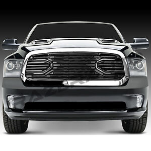 10-17 Dodge RAM 2500+3500 Replacement Big Horn Black+RED Packaged Grille+Shell