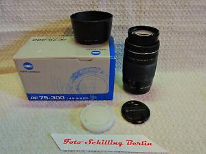Minolta, Konica Minolta AF-Zoom 4,5-5,6/75-300mm good condition in box