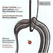 Mathieu, Chostakovitch, Mendelssohn: Concertino & Concertos (CD 2009) Sealed