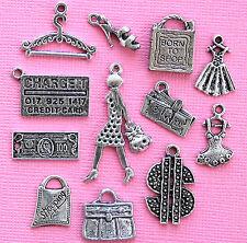 Shopping Charm Collection 12 Tibetan Silver Tone Charms FREE Shipping E90
