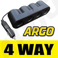 4way Multi Socket 12v 24v Divisor Adaptador Cargador de coche Smart Fortwo Convertible