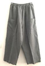 ESKANDAR ART TO WEAR pants lagenlook artsy top gray designer upscale sz 2