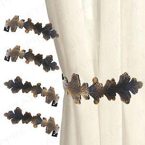 4x Large Stylish Curtain Hold Back Metal Tie Tassel Arm Hook Loop Holder U Shape