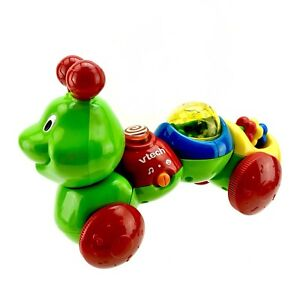 Details about Vtech Wiggle Caterpillar Push N Go Lights Sounds Music  electronic Toy VGC Rare