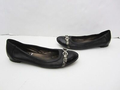 3463c5a191 AGL Attilio Giusti Leombruni Black Patent Leather Toe Cap Ballet Flats 37.5  7