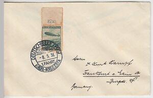(z6) zeppelinpost 1. Amérique du Nord trajet bordpost 1936- spécial marque randst.-rt Bordpost 1936- Sondermarke Randst.afficher le titre d`origine hRKRJhQl-07152228-867671033
