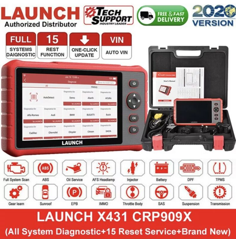LAUNCH X431 CRP909X PRO Auto Diagnostic Tool OBD2 Scanner ALL SYSTEM