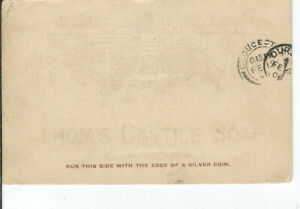 CH-495-Thom-039-s-Castile-Soap-Silver-Coin-Rub-Advertising-Postcard-Postcard