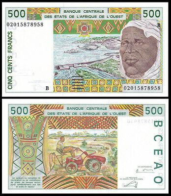 BENIN WEST AFRICAN STATES 500 FRANCS 1997 P 210 b UNC