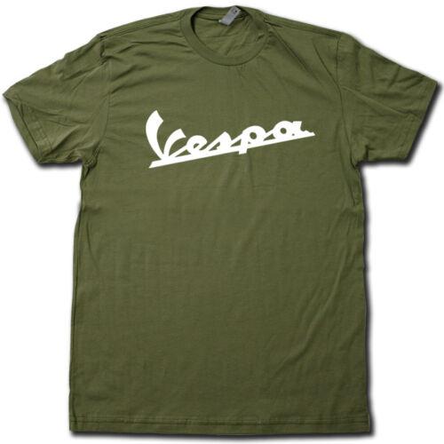 "VINTAGE Old School ""VESPA"" logo t-shirt ALL COLORS Super-Soft Cotton Graphic Tee"