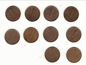 Pays Bas 10 Monnaies De 1 C Qualite !