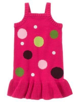 NWT Gymboree sz 6 PUPS /& KISSES Sweater Jumper Pink Polka Dot Dress Dog Shirt