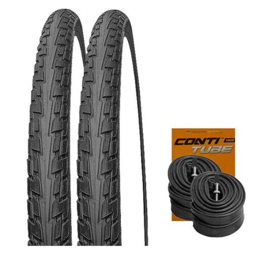 2 x Continental RIDE Tour Reifen Sondergröße 32-630 2 CONTI SCHLÄUCHE 27x1¼