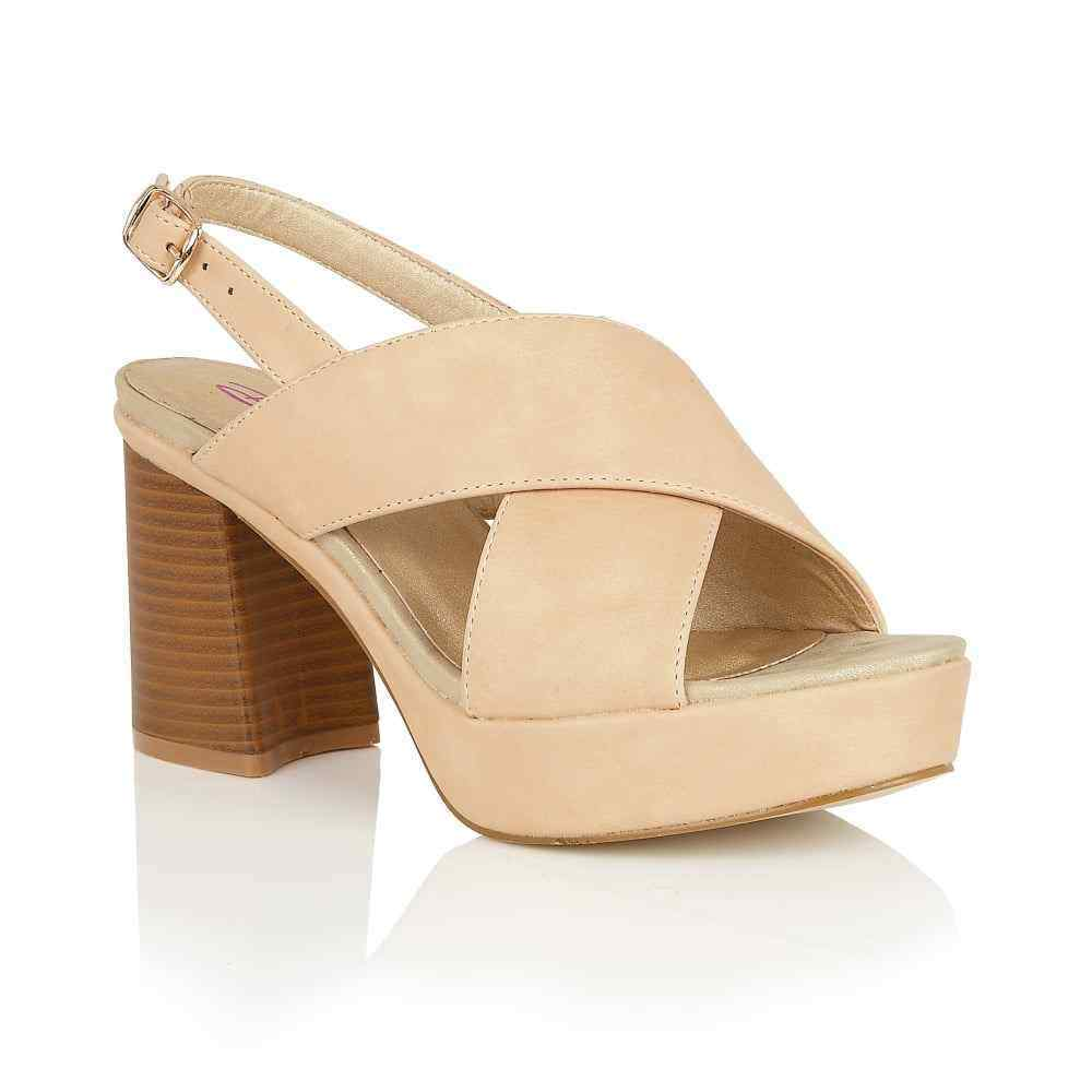DOLCIS VIVIAN SUMMER HOLIDAY OPEN PEEP TOE PLATFORM SANDALS SHOES BEIGE UK 3