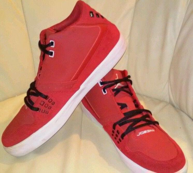 Michael Jordan Air Jordans 23 Red Suede Basketball  Shoes Uomo Sz 9