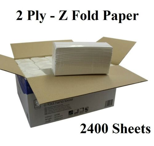 Z Fold Tissue White Paper Hand Towels Tissue 2 Ply 2400 Dispenser Tissue