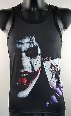 Tommy Black Tank Top Joker Harley Quinn Mens Dress Sleeveless Shirt Vest Singlet