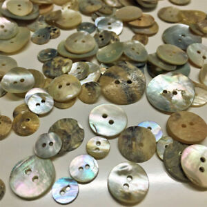 50-1900g Neutral  Vintage Mother Pearl Shell Buttons Jewellery Making Closures