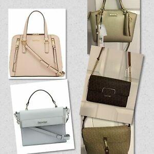 Calvin-Klein-Satchel-Handbag-Purse-Various-Styles-Colors-NWT