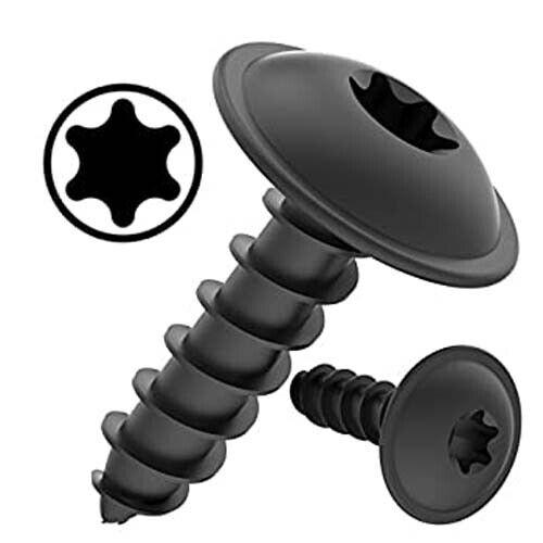 TORX Black Self Tapping Screws Flanged Pan Head TX Tapper BS4174 Car Panel Qy 10