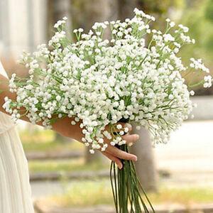 2-Stem-Artificial-White-Gypsophila-Fake-Silk-Flower-Baby-039-s-Breath-Bunch-Decor