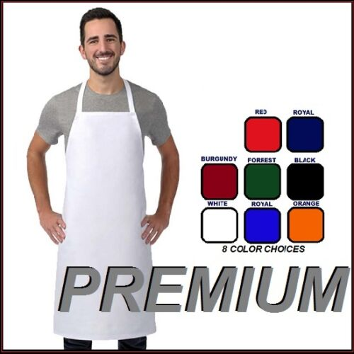 4 new premium professional bib apron kitchen supplies chefs barista cook craft
