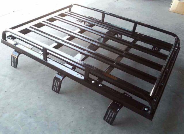 158cmx117cm Aluminium 4WD Roof Rack Luggage Cargo Carrier Basket Black