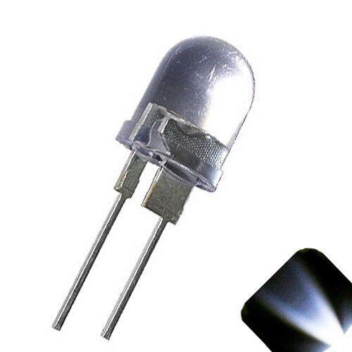 20 X Led 10mm Blanco Frío.5 Watts Super Brillante Leds De Alta Potencia 0,5 w Medio 1//2 Car