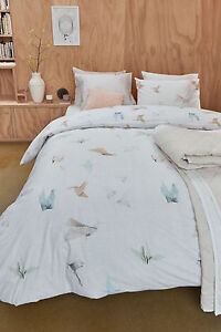 300TC Fern Silver Leaf Woven Jacquard Quilt Doona Cover Set QUEEN KING