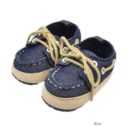 Baby Kinder Jungen Mädchen Weiche Sohle Sneaker Denim Kleinkind Schuhe eNwrg