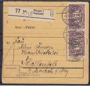 Dr Mi 219I,219 10x,209 Mif post Office Card Plauen - Wallenfels 1923, Tested
