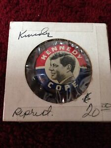Reprint Presidential Button Kennedy- Cope