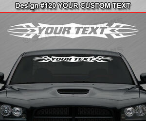 Design #120 2 Color Custom Windshield Tribal Scallop Vinyl Graphic Sticker Decal