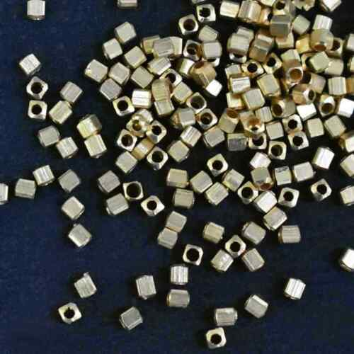 Rectangle Shape Gold Color Metal Brass Beads DIY Jewelry Make Craft  2MMx3MM