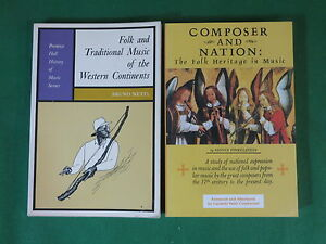 Lot-of-2-Books-On-Folk-Music-COMPOSER-AND-NATION-FOLK-AND-TRADITIONAL-MUSIC
