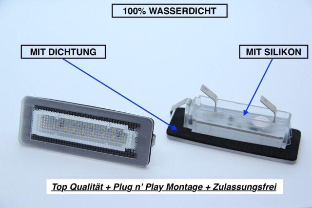 2x Top LED SMD Éclairage de Plaque D'Immatriculation Smart Fortwo Cabrio W451+