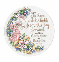 Cross Stitch Kit Dimensions To Have & To Hold Floral Wedding Record 3892