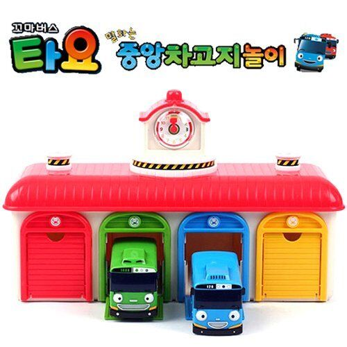 The Little Bus TAYO Main Garage and Tayo Rogi Set Bus Depot Center Playset
