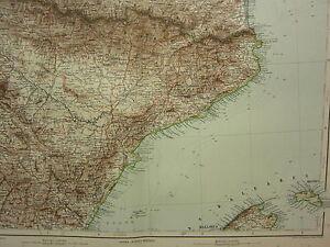 Teruel Spain Map.1907 Dated Map Spain North East Pyrenees Tarragona Teruel