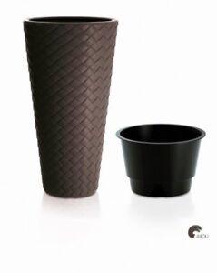 xxl pflanzk bel pflanztopf blumentopf blumenk bel kunststoff ca 80 cm grau ebay. Black Bedroom Furniture Sets. Home Design Ideas